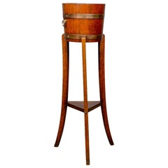 Antique Jardiniere, Arts & Crafts, Coopered Barrel on Stand, Lister, circa 1900