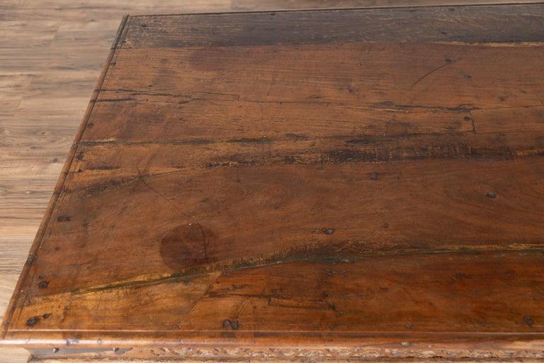 Antique Javanese Teak Wood Coffee Table with Hand Carved ...