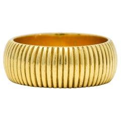Antique J.E. Caldwell 18 Karat Gold Ribbed Band Ring Circa 1905