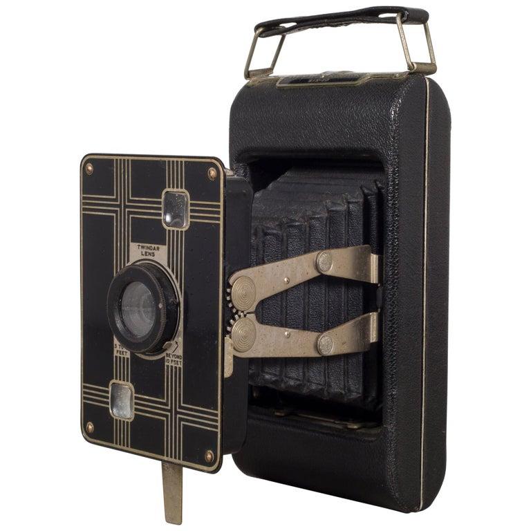 "Antique ""Jiffy Kodak Six-20"" Folding Camera, circa 1933"