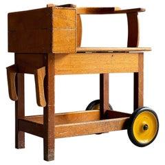 Antique Jockey Weighing Chair Scales, English Horse Racing circa 1930