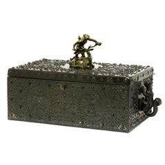 Antique bronze jewellery box by Friedrich Gornik for Dunhill, circa 1910
