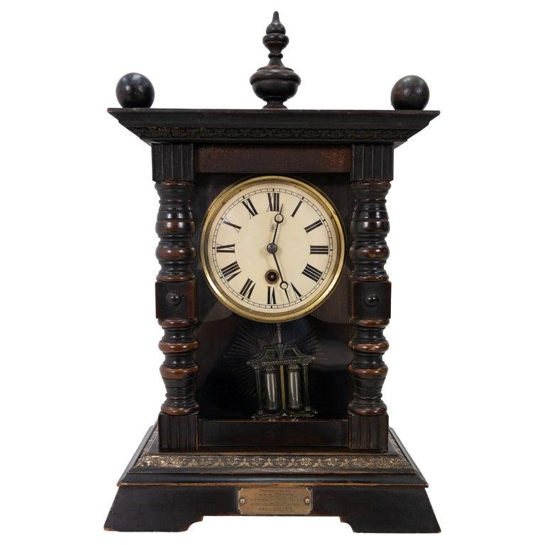 Antique Junghans Table Clock Annie Brown Inscription, 1915 ...