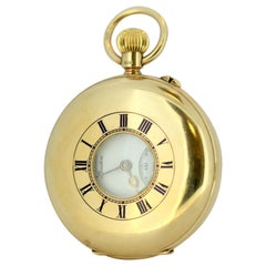 Antique JW Benson Pocket Watch Set in 9 Karat Yellow Gold, London, 1931