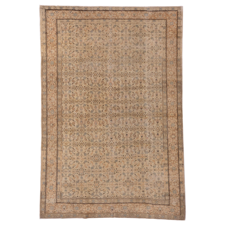 Antique Kaisary Carpet, Straw Ivory Field, circa 1930s