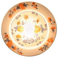 Antique Kangxi Period Imari Wall Lamp with Flowers Chinese China Porcelain