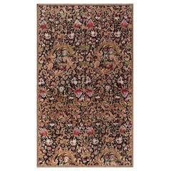Antique Karabagh Floral Colorful Handmade Wool Rug
