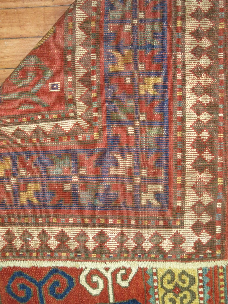 Hand-Woven Antique Karachopt Kazak Rug, 'Karachop' For Sale