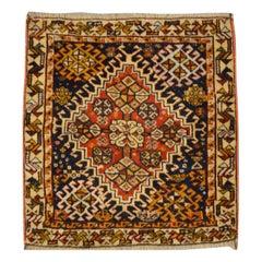 Antique Kasghay Rug, Central Rhombus Ethnic Design