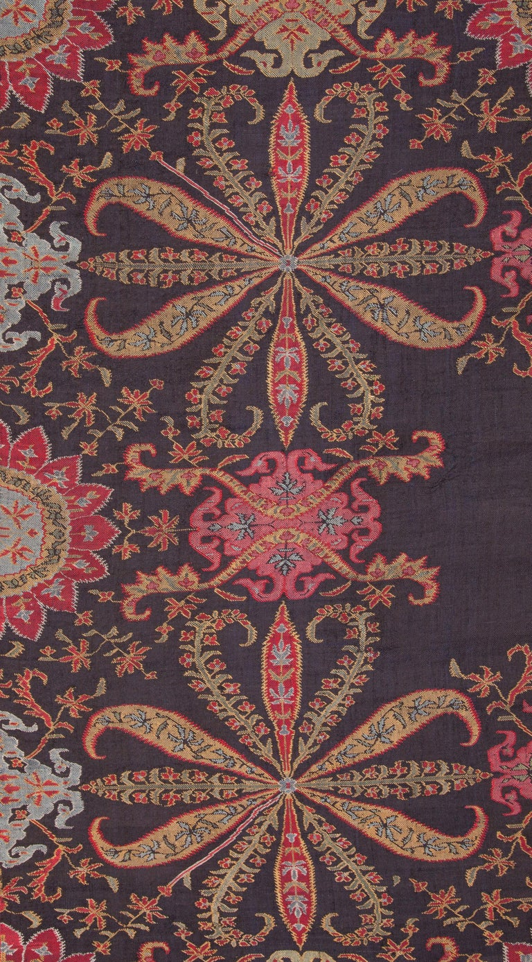 Antique Kashmir Long Shawl from India Early 19th Century, 1830s For Sale 1