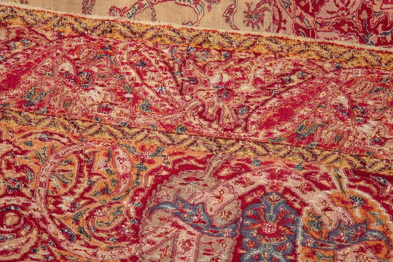 Antique Kashmir Shawl from India, 19th Century For Sale 4