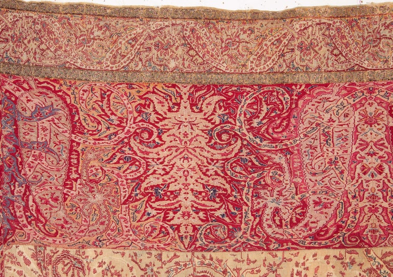 Islamic Antique Kashmir Shawl from India, 19th Century For Sale