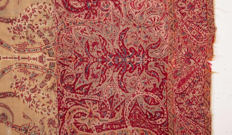 Indian Antique Kashmir Shawl from India, 19th Century For Sale