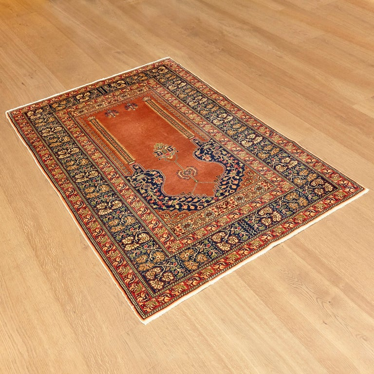 Mid-Century Modern Antique Kaysery Turkey Hand Knotted Wool Rug, circa 1950 For Sale