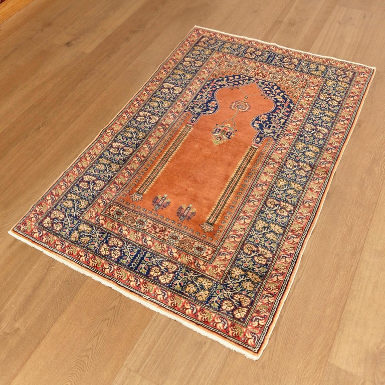 Antique Kaysery Turkey Hand Knotted Wool Rug, circa 1950 For Sale 2