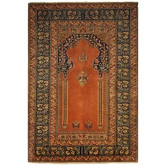 Antique Kaysery Turkey Hand Knotted Wool Rug, circa 1950