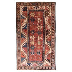 Antique Kazak Borcholo Russian Rug