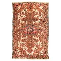 Antique Kazak Caucasian Rug with Geometric Flower Design, circa 1900