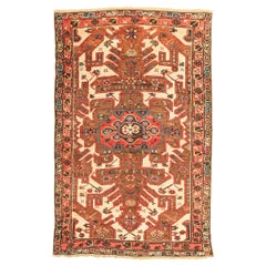 Antique Kazak Caucasian Rug with Geometric Flower Design, circa 1900