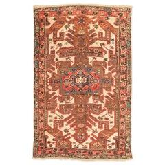 Antique Kazak Caucasian Rug, circa 1900 with Geometric Flower Design