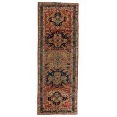 Antique Kazak Runner circa 1880 in Pure Handspun Wool and Vegetable Dyes
