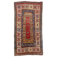 Antique Kazak Wool Rug, 19th Century Kazakhstan