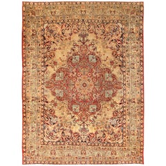 Antique Kerman Persian Rug.  Size: 10 ft 3 in x 13 ft 6 in (3.12 m x 4.11 m)