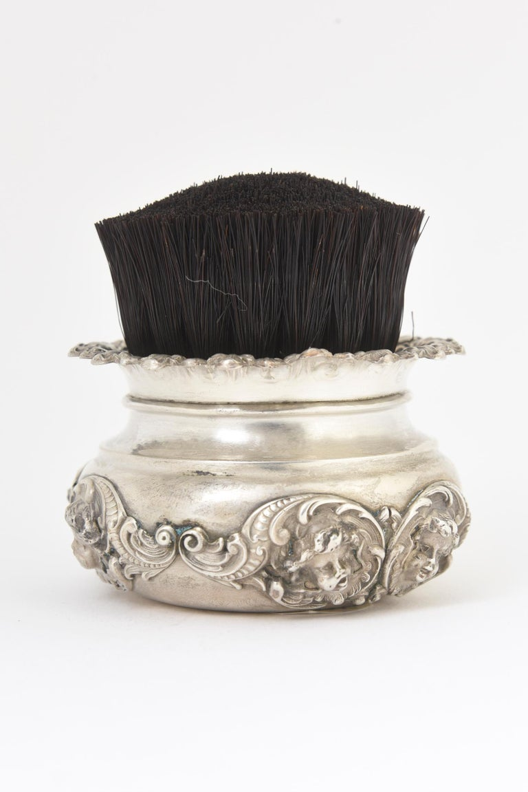 Antique Kerr Cherub Sterling Silver Clothing or Table Brush For Sale 3