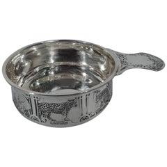 Antique Kerr Edwardian Sterling Silver Animal Porringer