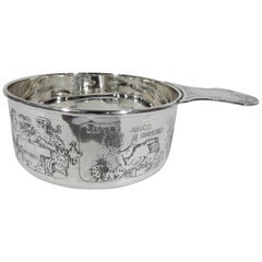 Antique Kerr Edwardian Sterling Silver Nursery Rhyme Porringer