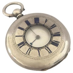 Antique Key-Wind Silver Half Hunter Pocket Watch