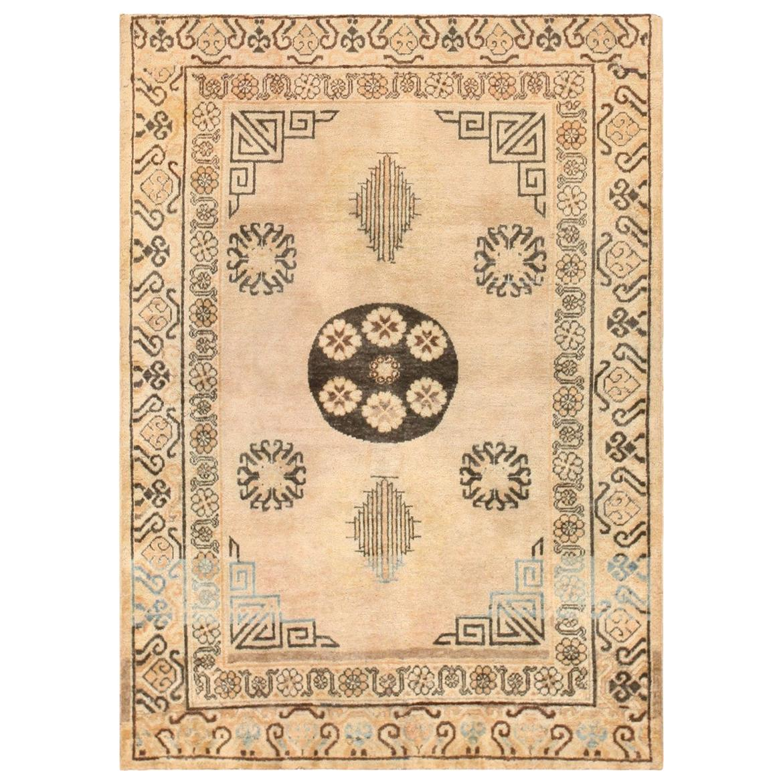 Antique Khotan Carpet from East Turkestan. Size: 4 ft 2 in x 5 ft 8 in