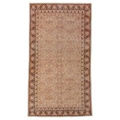 Antique Khotan Rug, Pink Tones, Neutral Field, Pomegranate Design
