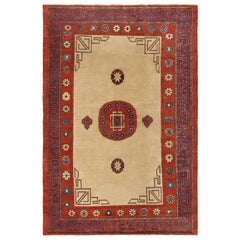 Antique Khotan Rug. Size: 4 ft 9 in x 6 ft 10 in (1.45 m x 2.08 m)