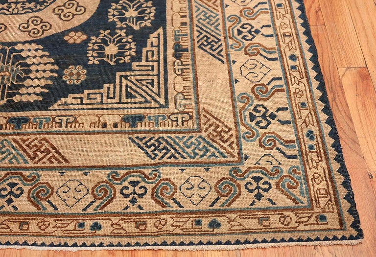 Antique Khotan Samarkand Oriental Rug Or Carpet For Sale