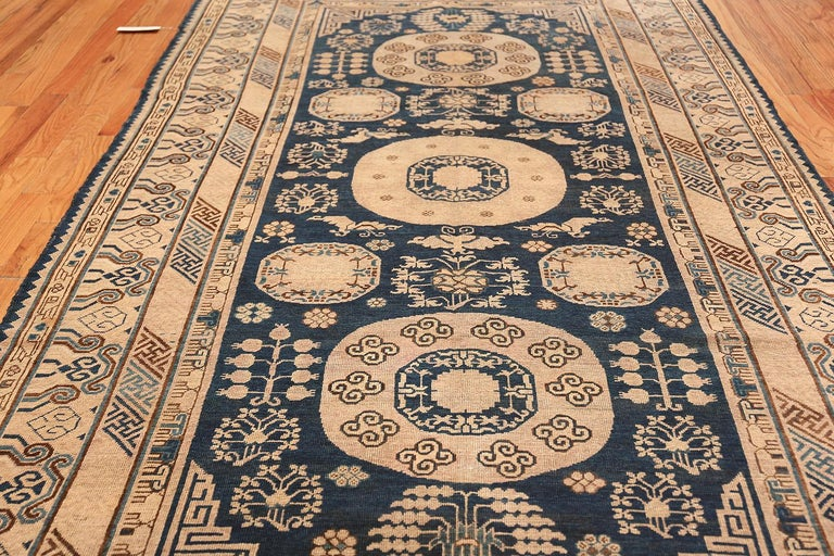 Wool Antique Khotan Samarkand Oriental Rug or Carpet For Sale