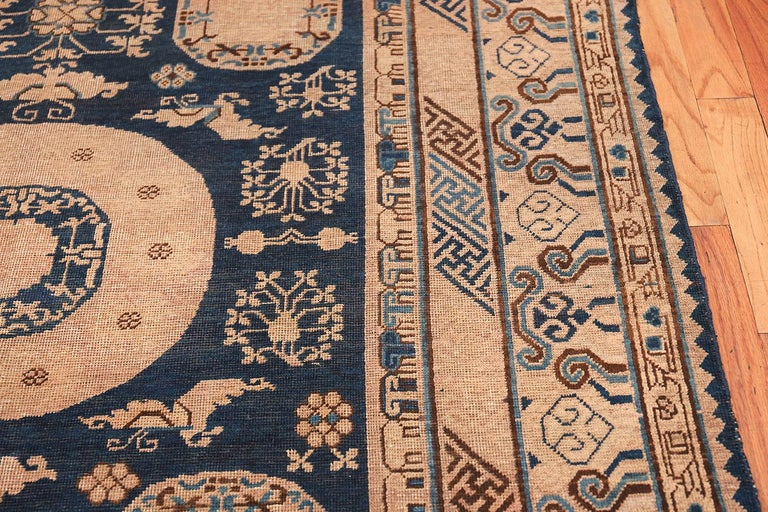 Antique Khotan Samarkand Oriental Rug or Carpet For Sale 3