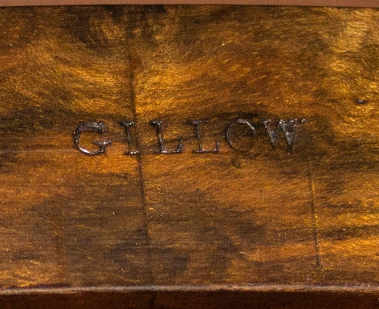 Antique Kidney Writing Table Desk Bureau Plat by Gillow, 19th Century For Sale 5