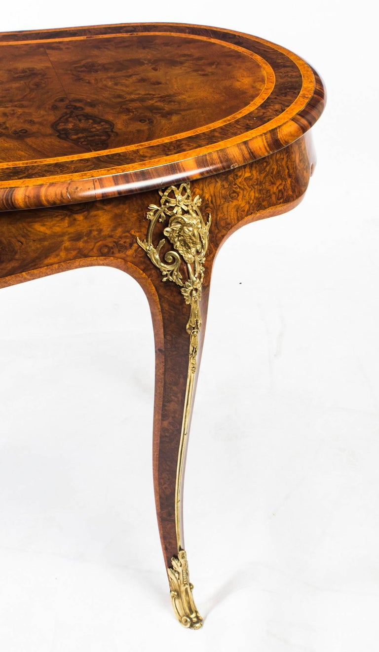 Antique Kidney Writing Table Desk Bureau Plat by Gillow, 19th Century For Sale 11