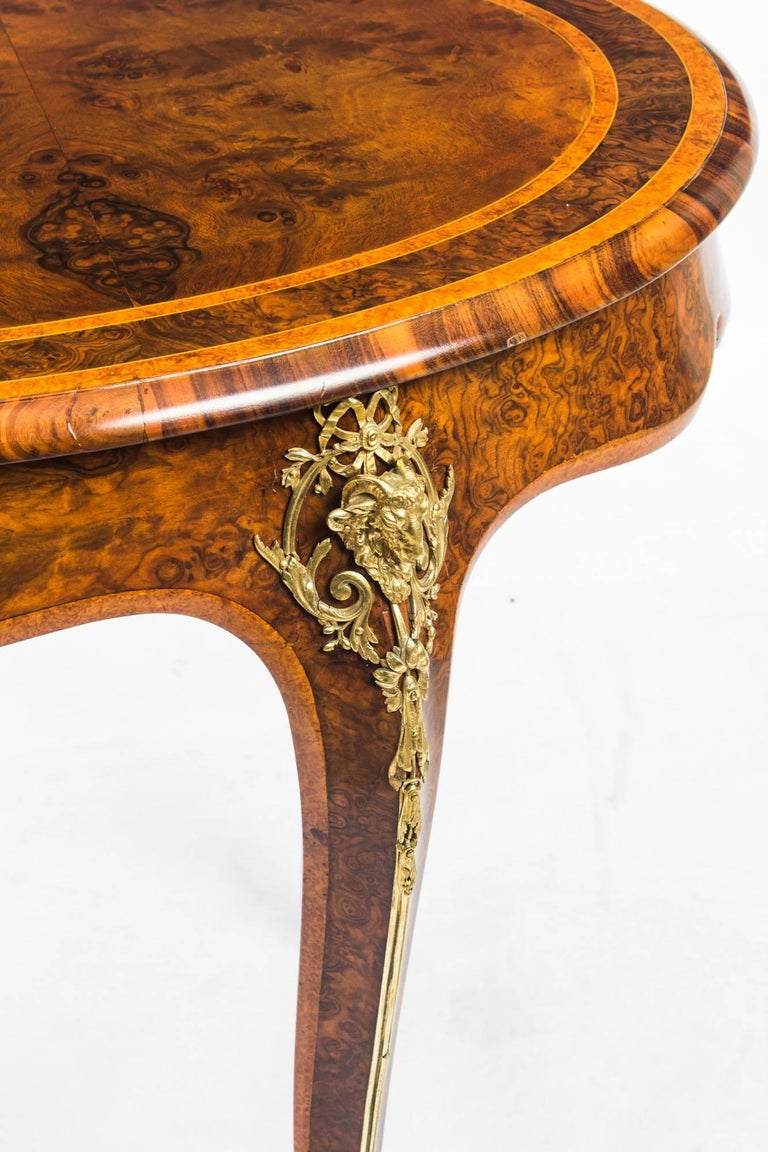 Antique Kidney Writing Table Desk Bureau Plat by Gillow, 19th Century For Sale 12