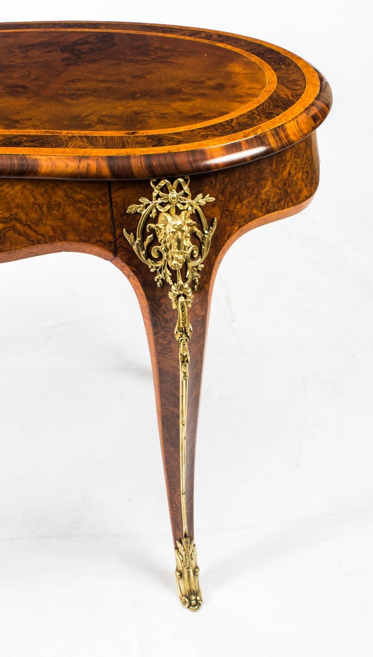 Antique Kidney Writing Table Desk Bureau Plat by Gillow, 19th Century For Sale 2