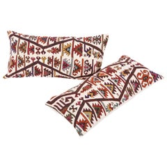 Antique Kilim Cushion Covers Fashioned from Late 19th Century Turkish Kilim,