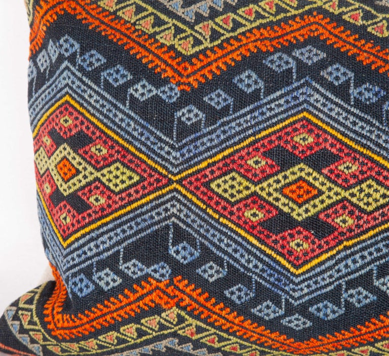 Antique Kilim Pillow Cases Made from a Late 19th Century Anatolian Cicim Kilim For Sale 9