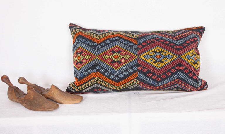 Antique Kilim Pillow Cases Made from a Late 19th Century Anatolian Cicim Kilim For Sale 10