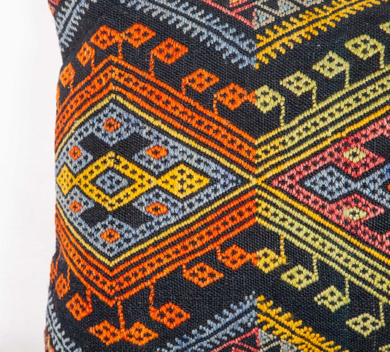 Hand-Woven Antique Kilim Pillow Cases Made from a Late 19th Century Anatolian Cicim Kilim For Sale