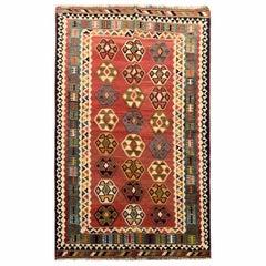 Antique Kilim Rug Caucasian Kilim