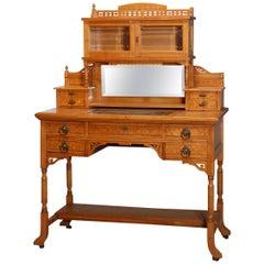 Antique Kimbel & Cabus Aesthetic School Birdseye Maple Ladies Desk, circa 1870