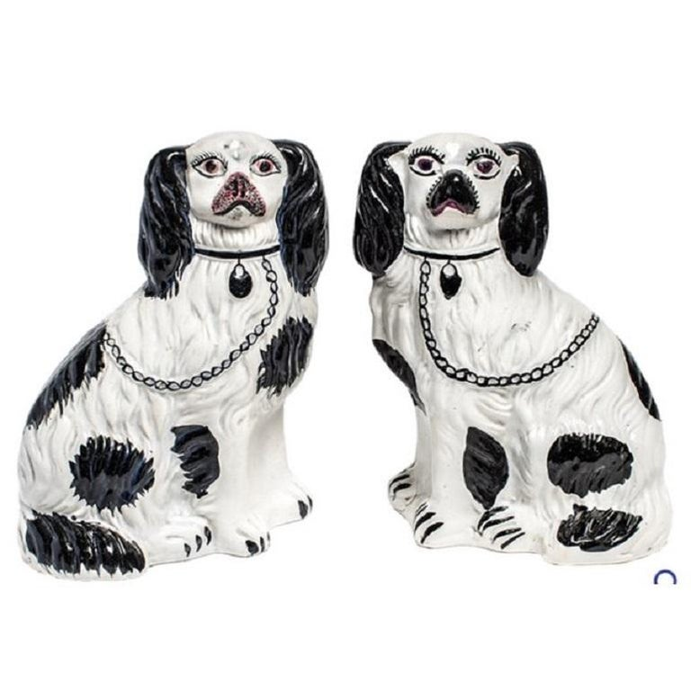 CHELSEA HOUSE Porcelain Dog Basset Hound King Charles Spaniel Staffordshire 8 ~ Free Shipping!