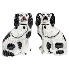 Antique King Charles Spaniel Staffordshire Dogs