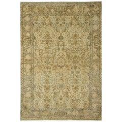 Antique Kirman Rug Carpet, circa 1920  5' x 8'9
